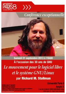 Conférence logiciel libre sept 2013